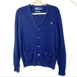 Polo Ralph Lauren navy Pima Cotton V neck Cardigan